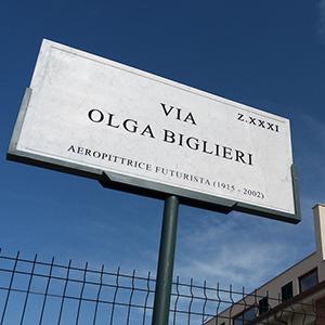 Inaugurazione della strada intitolata a Olga Biglieri Scurto
